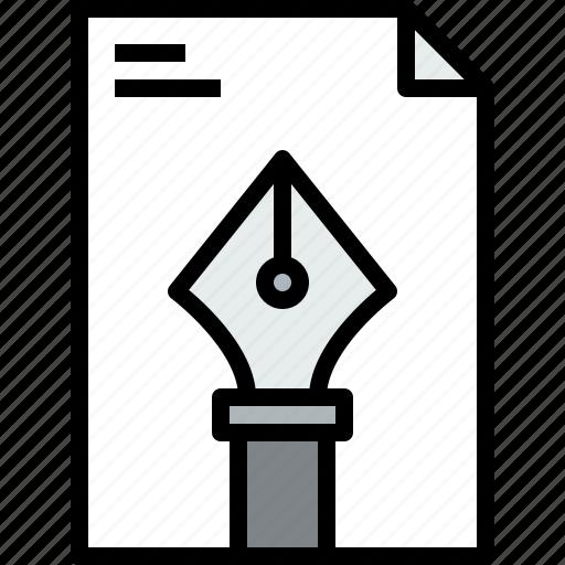file, graphic, pen icon