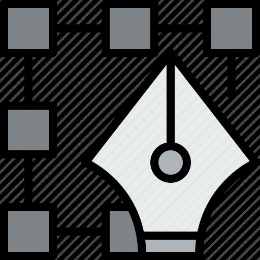 design, draw, graphic, pen icon