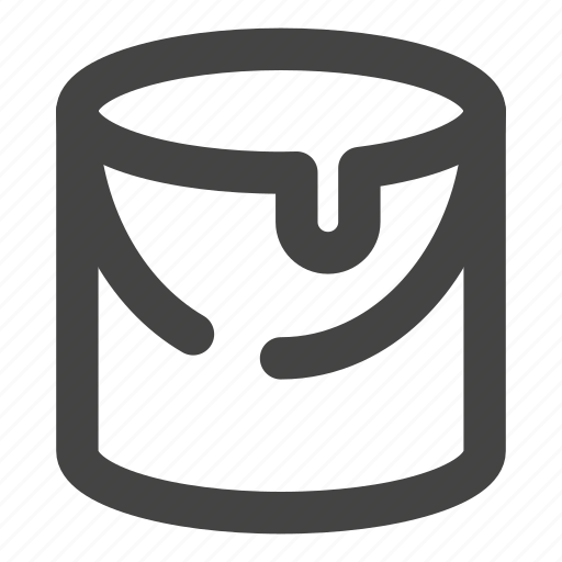 bucket, creative, design, paint icon