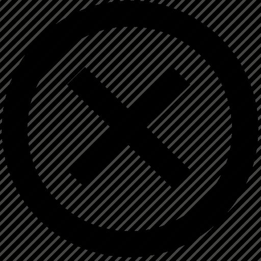 circle, close, cross icon