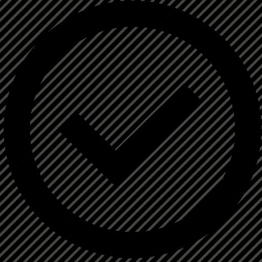 circle, confirm, correct, tick, validate icon