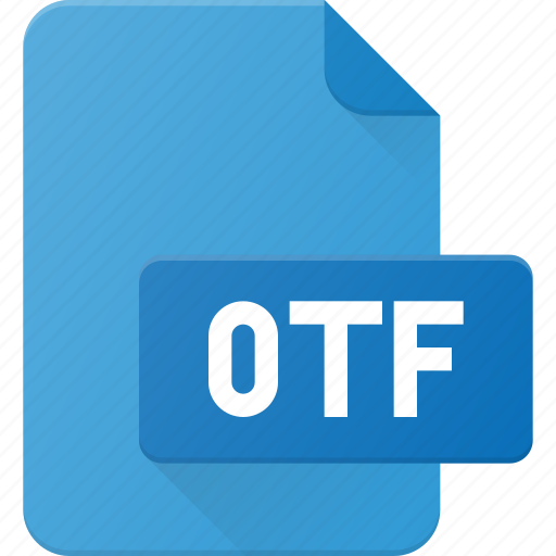 design, extension, file, font, otf, page, type icon