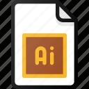 adobe, illustrator, file, vector, document