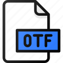 otf, file, document, font icon
