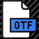 otf, file, document, font