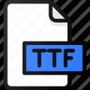 ttf, file, document, font