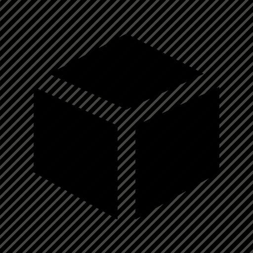 box, cube, cube shape, modelling, shape icon