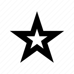 five pointed, night, night time, sky, star icon