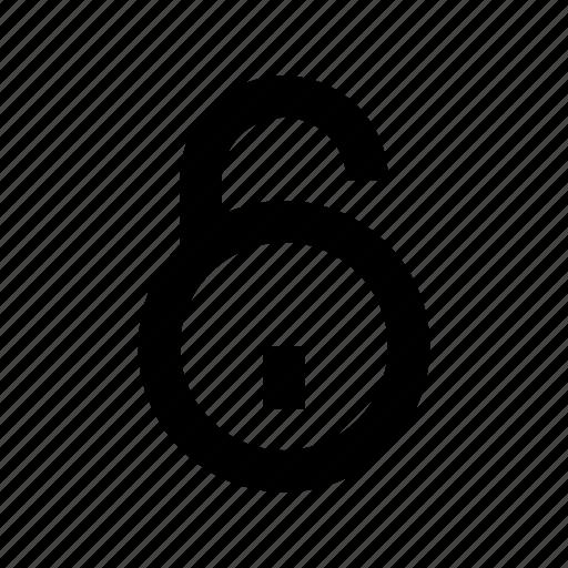 access, padlock, protection, security, unlock icon