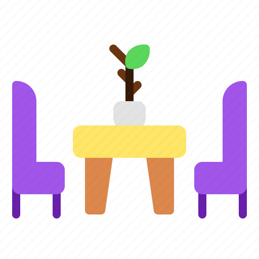chair, interior, lounge, meeting, relax, room icon