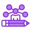 collaboration, creative, designer, pencil, teamwork icon