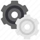 design, designthinking, gears, graphic, options, settings, thinking icon