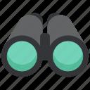 binoculars, design, designthinking, see, thinking, watch icon