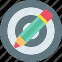 design, designthinking, goal, pen, purpose, target, thinking icon