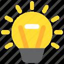 bulb, design, designthinking, idea, light, think, thinking icon