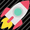cosmos, design, designthinking, missile, rocket, startup, thinking icon