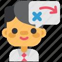creative, designthinking, idea, plan, presentation, startup, think icon