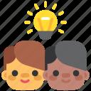 brainstorm, design, designthinking, idea, team, think, thinking icon
