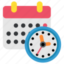 calendar, clock, deadline, design, designthinking, thinking, time icon