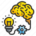 brains, brainstrom, bulb, idea, think