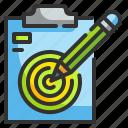define, edit, goal, pencil, target