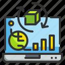 graph, laptop, report, result, statistics