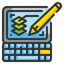 computer, design, graphic, layer, tablet icon