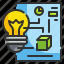 bulb, creative, design, idea, paper