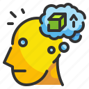 thinking, imagination, thought, knowledge, design icon