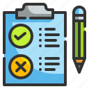 checked, cons, edit, list, pros, tasks icon