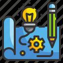 blueprint, browser, design, idea, prototype icon