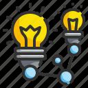 bulb, creative, idea, network, share
