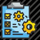 checklist, exam, management, test, ui
