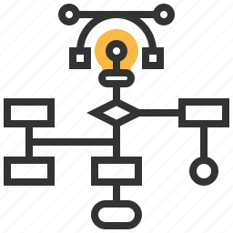 algorithm, analytics, business, diagram, flowchart, plan, workflow icon