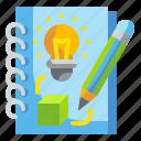 creative, design, idea, notebook, sketchbook icon