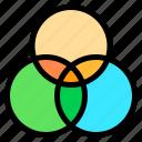 combination, design, rgb, color icon