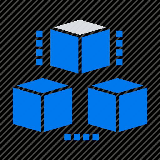 box, computing, delivrey, shepping icon
