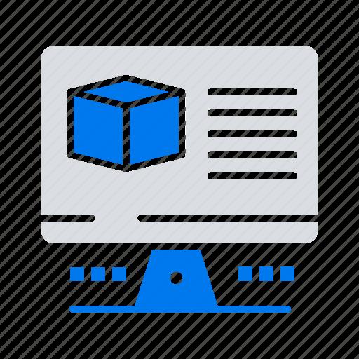 box, computer, internet, monitore icon