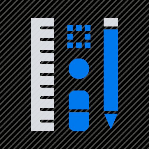 education, pen, pencil, scale icon