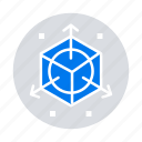 3d, design, modification, scale icon
