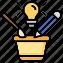 brainstorm, art, fresh, idea, plant, light, bulb