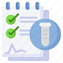 experiment, checklist, checkmark, items, testing, research