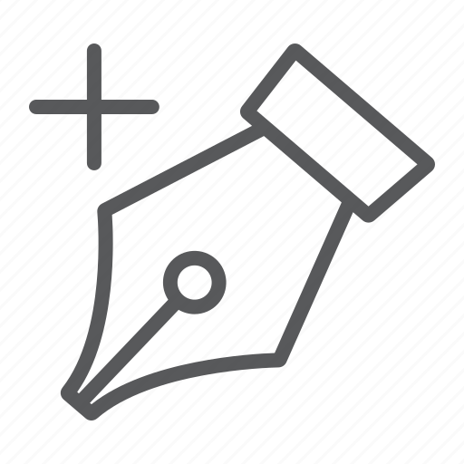 add, anchor, draw, fountain, ink, pen, soft icon