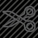 cut, design, paper, scissors, sign, soft, tool icon