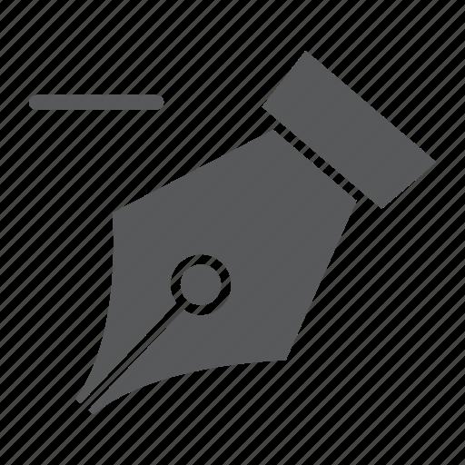 anchor, delete, draw, fountain, ink, pen, soft icon
