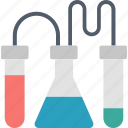 chemistry, development, flasks, laboratory, process, research, science icon