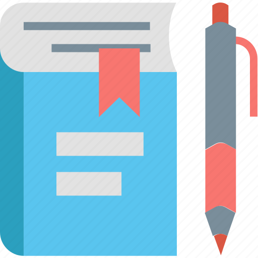 book, education, knowledge, learning, pen, reading, school icon