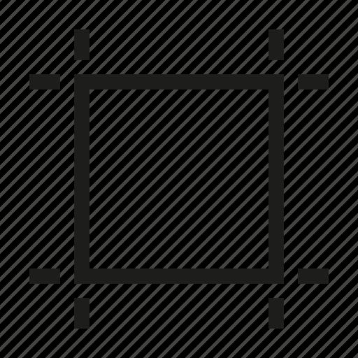 crop, cut, delete, design, edit, square, tool icon