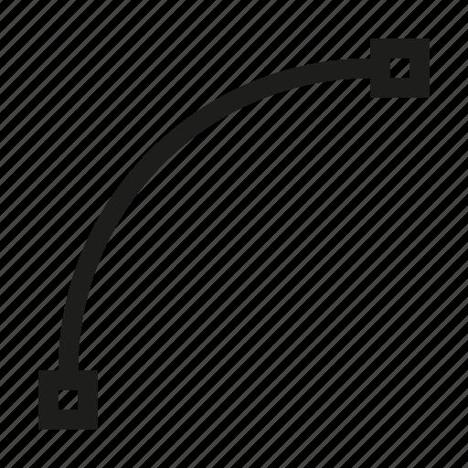 arc, curve, design, line, tool, vertex icon