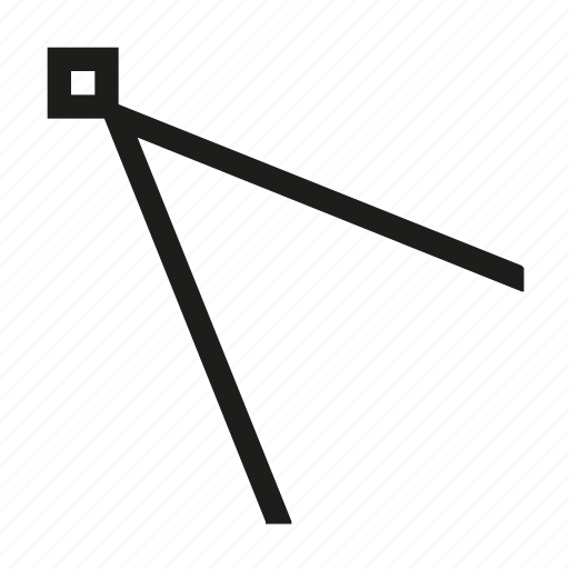 angle, design, edit, line, tool, transform, vertex icon